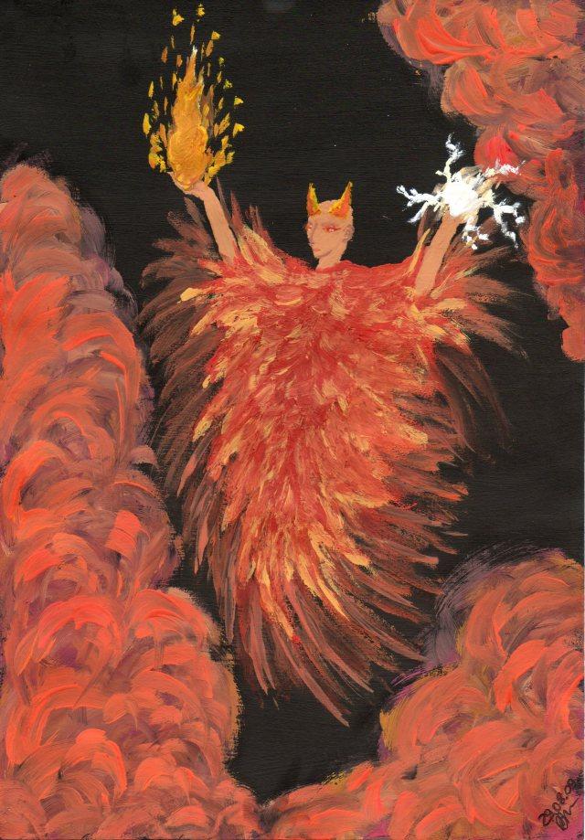 Demon ognia i błyskawic